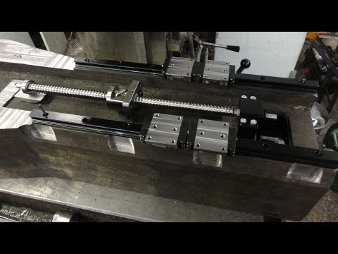 Milling machine from cast iron part 6 Milling of the column