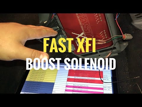 FAST XFI Boost Solenoid And E-Dash Wiring