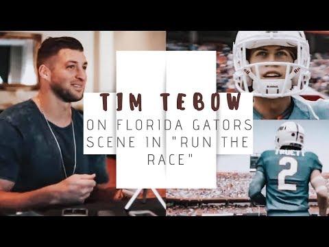"Tim Tebow on Using Florida Gators Stadium for ""Run the Race"" | Talks ""Cheesy""  Christian Movies"