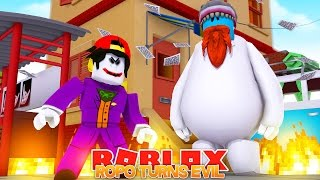 ROPO TURNS EVIL !! SUPERHERO BATTLE GOOD VS EVIL !! Sharky Gaming | Roblox
