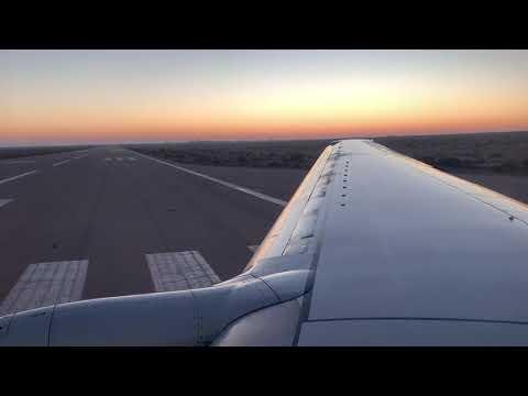 Tunisia Takeoff Tunis Air Tozeur Boeing 737 / Tunisie Décollage De Tozeur Tunis Air Boeing 737 600