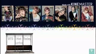 BTS (방탄소년단) - Not Today [Karaoke ver.] Color Coded Lyrics [Instrumental/Kpop]