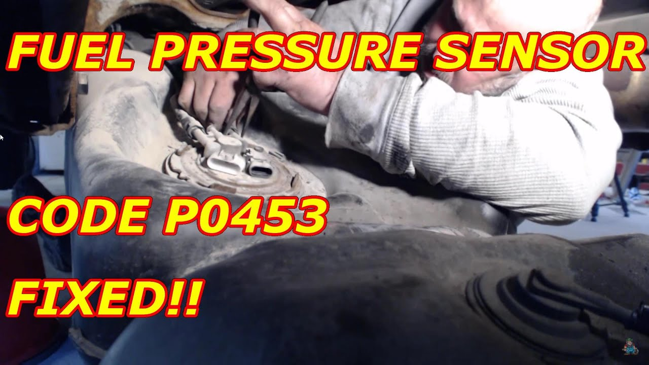 fuel pressure sensor code p0453 fixed - youtube