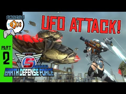 UFO ATTACK! Earth Defense Force 5 PS4 Gameplay Ep. 2 thumbnail