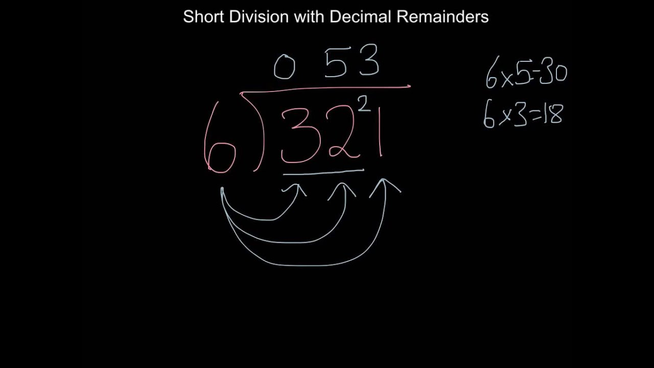 Worksheet Short Division With Decimal Remainders short division with decimal remainders youtube remainders