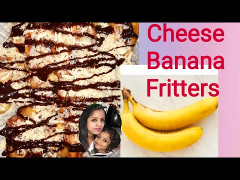 Banana Fritters With Cheese Youtube