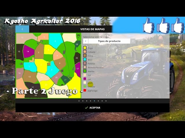 Review Kyosho Agricultur 2016 - Parte 2 Juego - #FS15