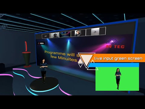 Virtual 3D event studio with interactive live audience I vir