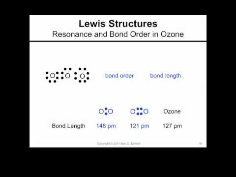 Lewis Structures: O3 and Resonance - YouTube