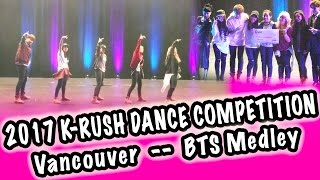 Download Video [LIVE: K-RUSH DANCE COMPETITION VANCOUVER] BTS 방탄소년단 -- MEDLEY MP3 3GP MP4