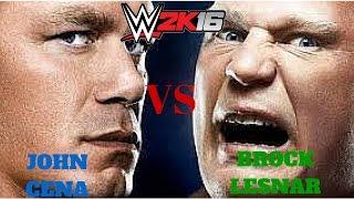 John Cena VS Brock Lesnar WWE 2K16
