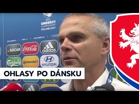 """Vítězslav Lavička po utkání s Dánskem (2:4) na ME """"21"""" 2017 v Tychy"""