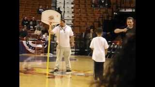 Kids Slam Dunk Contest during halftime - UW Huskies vs Seton Hall men's basketball