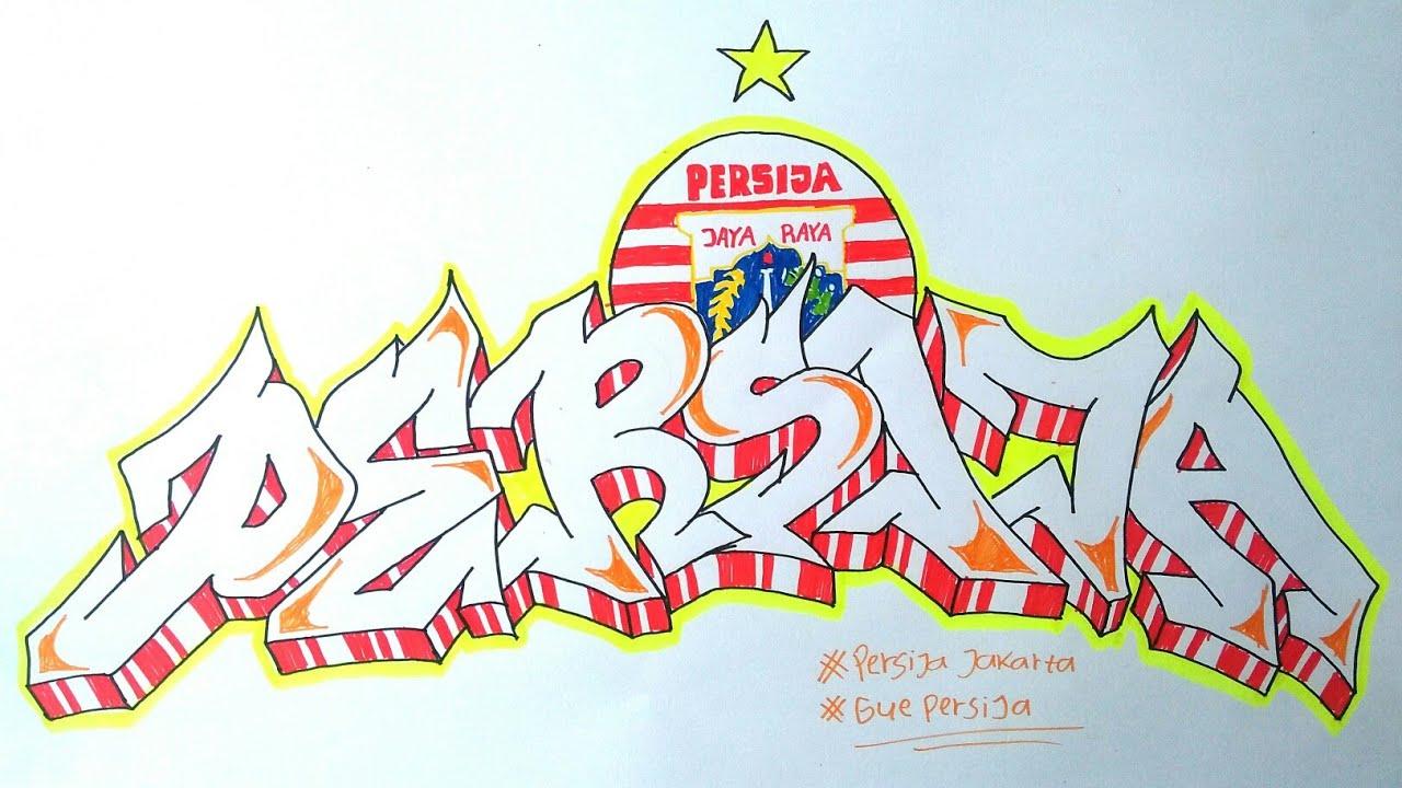Cara Membuat Graffiti Persija Jakarta Youtube