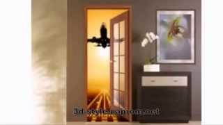 Виниловые фотообои и наклейки на двери с 3D эффектом