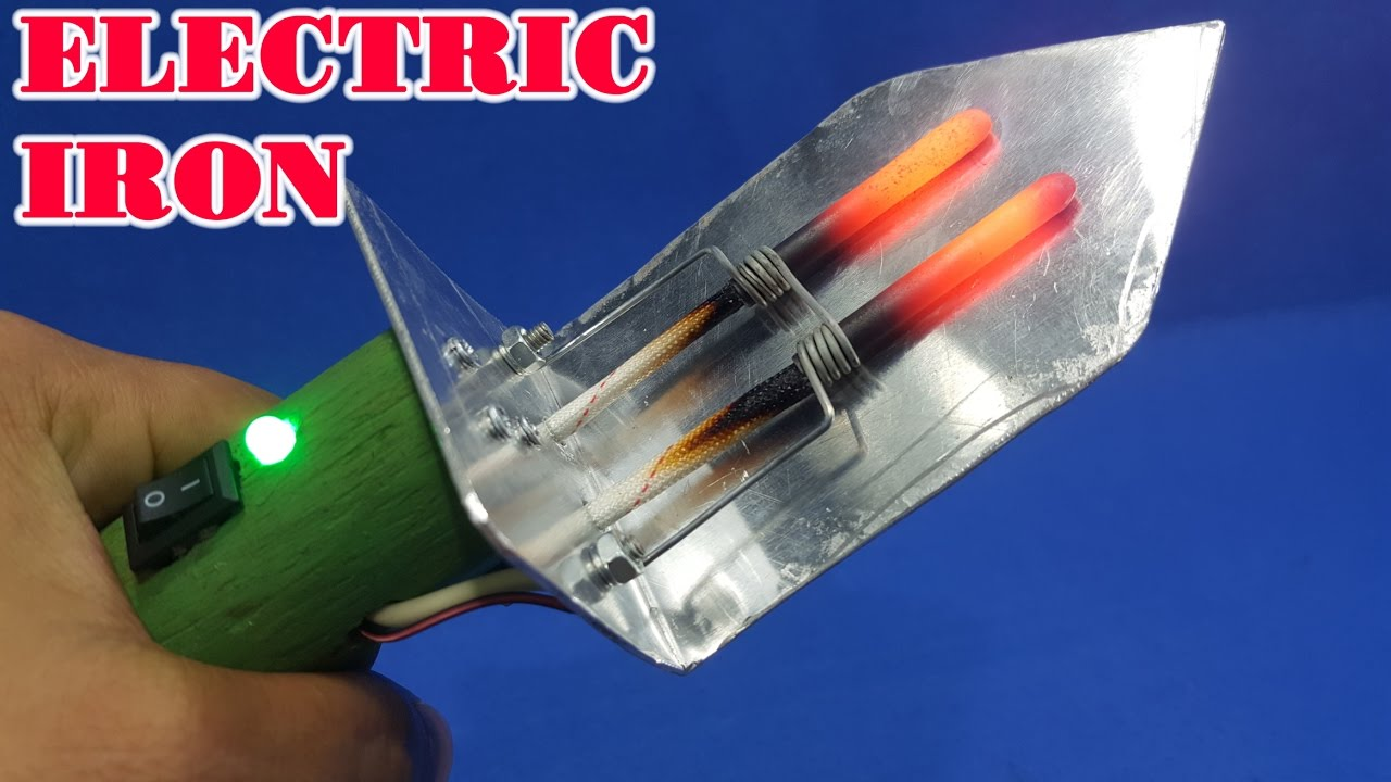 How to make 12v Electric Iron at home - YouTube