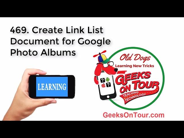 Google Photos, make a link list of albums