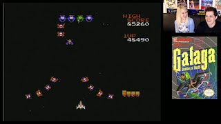 Galaga (NES) live stream with Mike & Claire