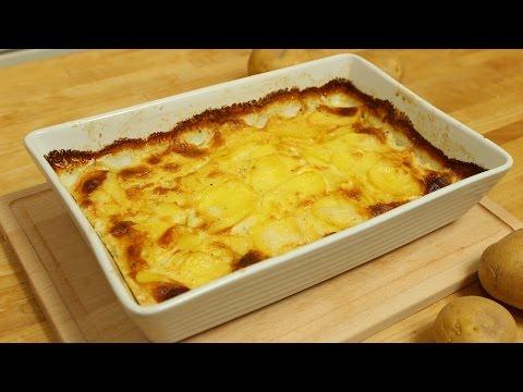 Kartoffelgratin (Gratin dauphinois)/ Cremiger Kartoffelauflauf