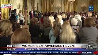WATCH: President Trump Speaks at Women's Empowerment Event at White House (FNN)
