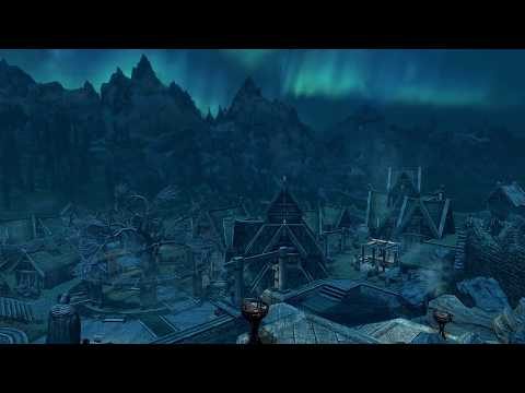 Skyrim |Relaxing VGMV| The Streets of Whiterun