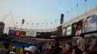 王建民 Yankees Wang 球場拍的-賽前練球+介紹出場+全場歡呼退場 (洋基vs大都會 0617地鐵大戰)