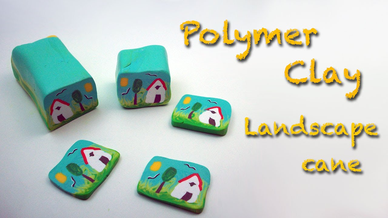 Diy Polymer Clay Fimo Tutorial How To Make A Country Landscape