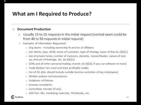 Navigating the SEC Examination Process Webinar