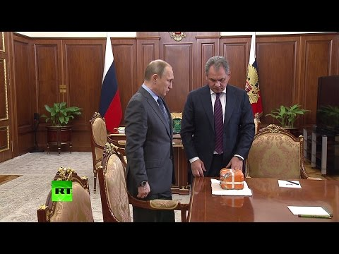 Сергей Шойгу передал Владимиру Путину черный ящик со сбитого в Сирии Су-24