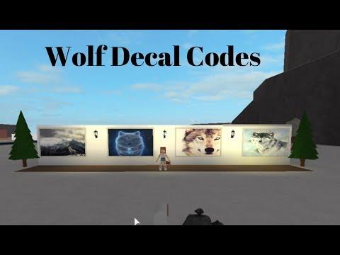 Wolf Decal Codes Roblox Bloxburg Youtube