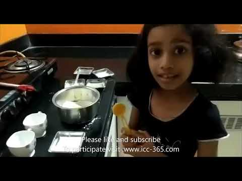 making cup cake cooking video by cute and little girl