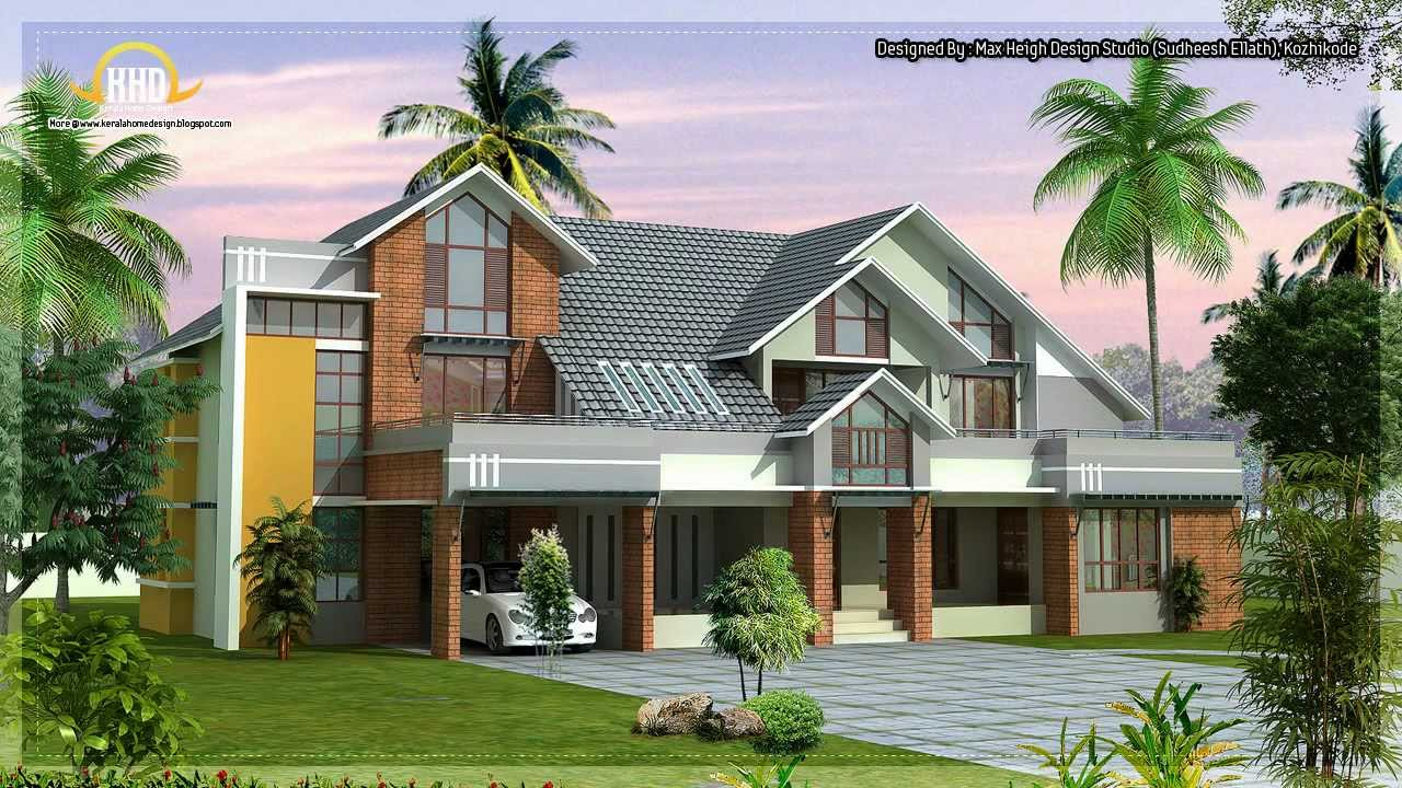 Architecture house plans compilation june 2012 youtube for Home architecture design kerala