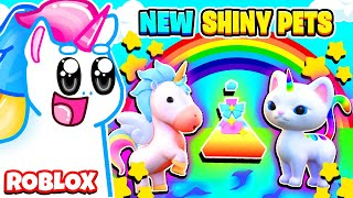 SHINY PETS ARE HERE! How To Transform Your Pets Into SHINY PETS! Roblox Overlook Bay Update