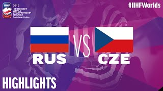 Russia vs. Czech Republic - Game Highlights - #IIHFWorlds 2019