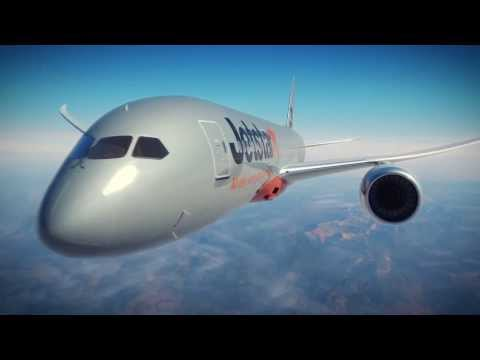 Jetstar Boeing 787 fly-through