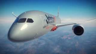 Jetstar Boeing 787 fly-through