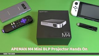APEMAN M4 Mini DLP Projector Hands On