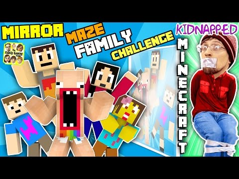 Thumbnail: KIDNAPPED in MINECRAFT!! FGTEEV MIRROR MAZE Family Challenge! Save DUDDY Mini-Game (Gameplay / Skit)