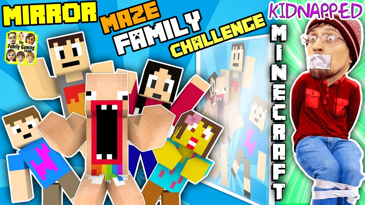 KIDNAPPED in MINECRAFT!! FGTEEV MIRROR MAZE Family Challenge! Save DUDDY Mini-Game (Gameplay  Skit)