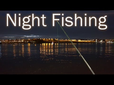 Solo Night Fishing On The River Tyne.