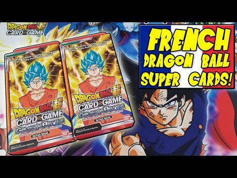 HORRIBLE PRONUNCIATIONS!! Opening FRENCH Special Pack Kits of Dragon Ball Super Cards!