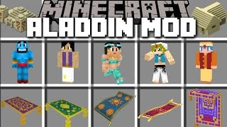 Minecraft ALADDIN MOD / FLY AROUND WITH MAGIC CARPETS AND BECOME ALADDIN!! Minecraft