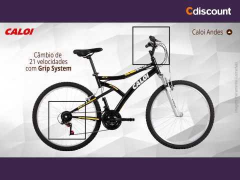 Bicicleta Aro 26 Caloi Andes com 21 Marchas e Freio V-Brake - Preto ... ffb75ad856185