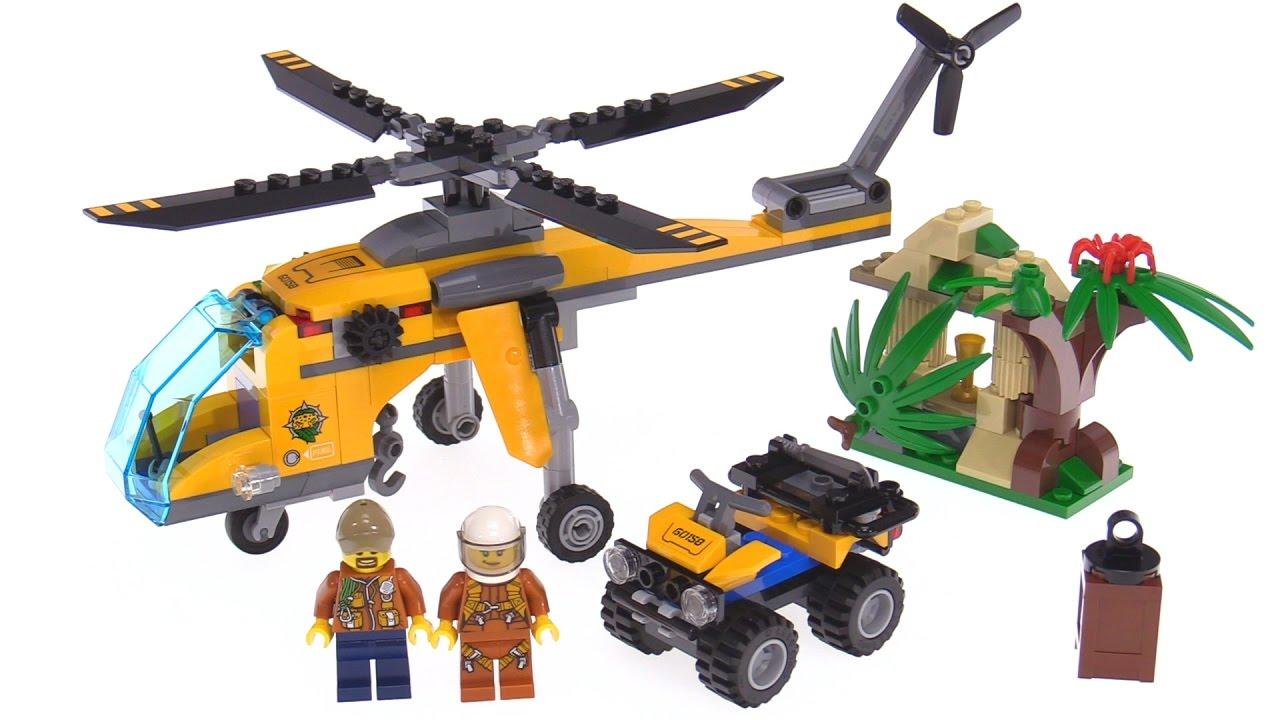 LEGO City Jungle Cargo Helicopter /& LEGO City Jungle Starter Set