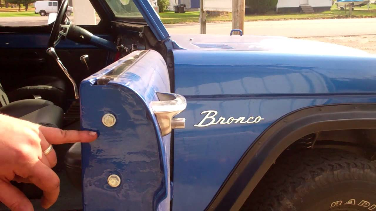 Early Ford Bronco Removeable Soft Upper Doors Youtube