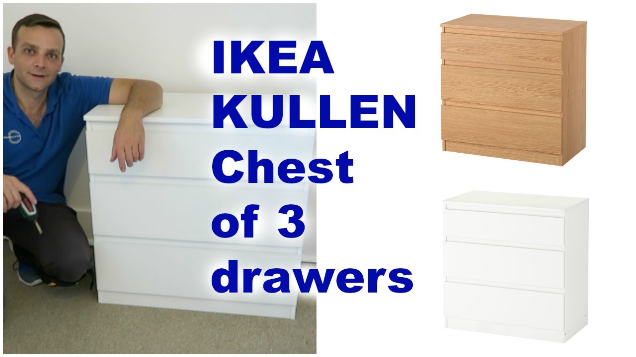 Istruzioni Montaggio Cassettiera Malm.Ikea Kullen Chest Of Drawers Assembly Youtube