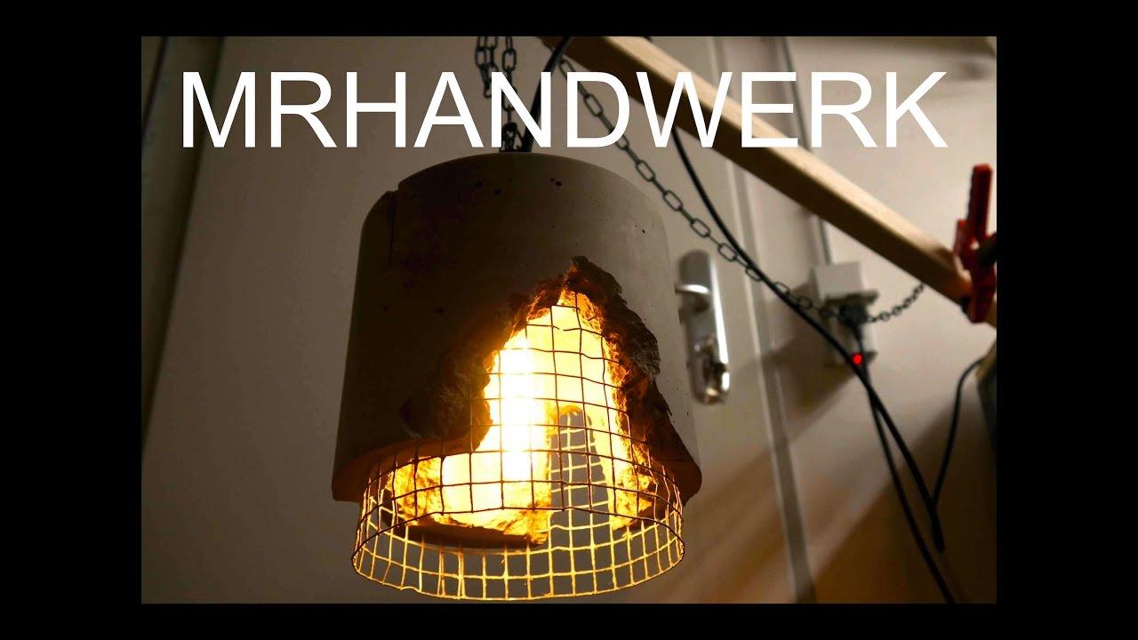 1/2) DIY Vintage Lamp / Cement Lampe - Anleitung - - YouTube