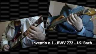 Inventio n.1 in C major (Bach) -- BWV 772 -- guitar, bass & drums
