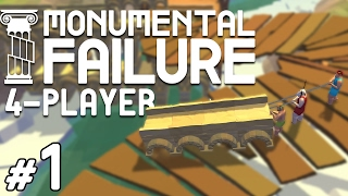 Monumental Failure - #1 - Building with Jetpacks! (4 Player Gameplay)