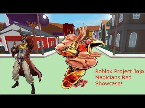 Roblox Project Jojo Magicians Red Showcase! - YouTube